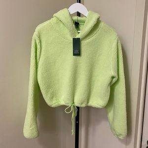 WILD FABLE Cropped Sherpa Hoodie